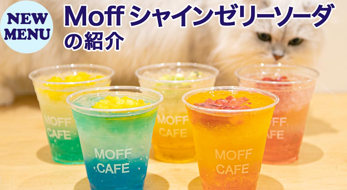NEW MENU「Moff シャインゼリーソーダ」の紹介