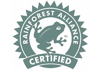 レインフォレスト・アライアンス認証のロゴマーク